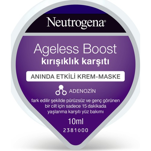 Neutrogena Ageless Boost Hidrojel Gençlik Krem Maske 10